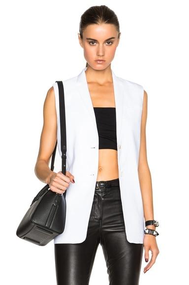 Helmut Lang Linen Vest in Optic White