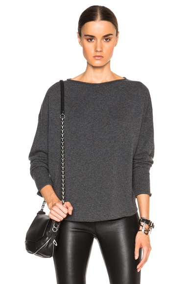 Helmut Lang Cashmere Sweatshirt in Charcoal Heather