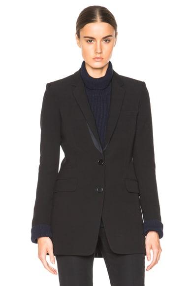 Helmut Lang Pocket Detail Blazer in Black