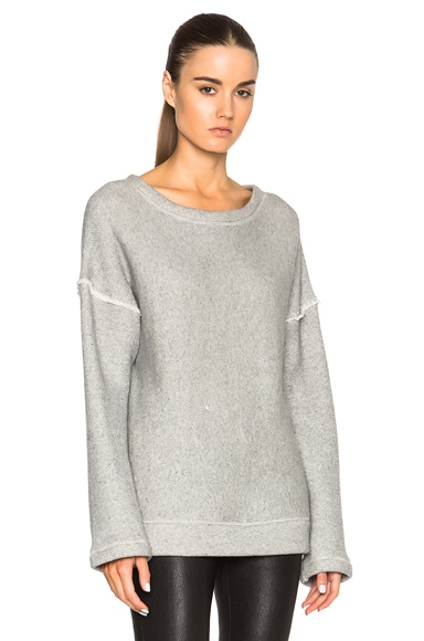 Helmut Lang Oversized Sweater in Dark Heather