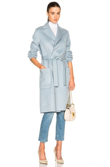 Helmut Lang Double Face Wool Coat in Cirrus