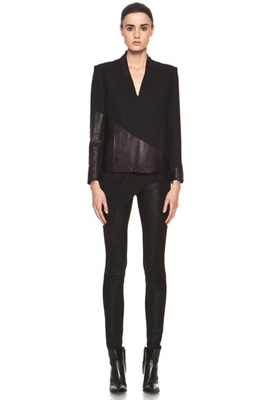 Warped Suiting Asymmetrical Combo Jacket