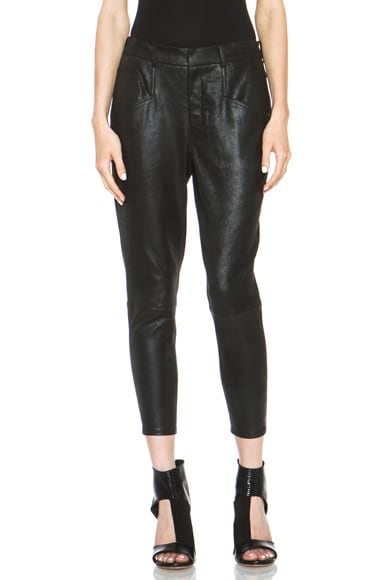 Patina Stretch Leather Slouch Pant
