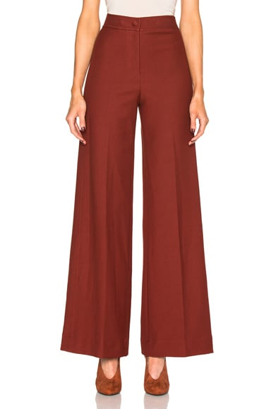 Helmut Lang High Waisted Pants in Cherry