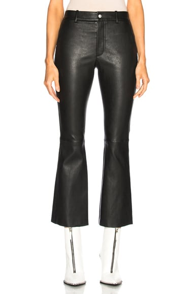 Leather Flare Pant