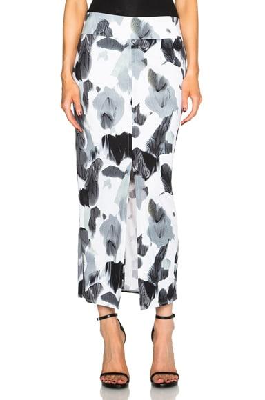 Helmut Lang Crypsis Print Skirt in Black & White Multi