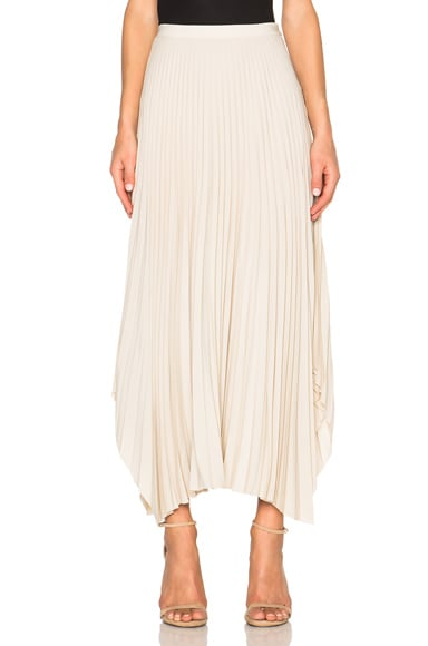 Helmut Lang Pleated Skirt in Oyster