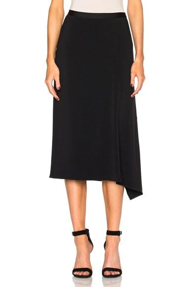 Helmut Lang Side Drape Skirt in Black