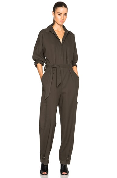Helmut Lang Patch Pocket Jumpsuit in Camouflage