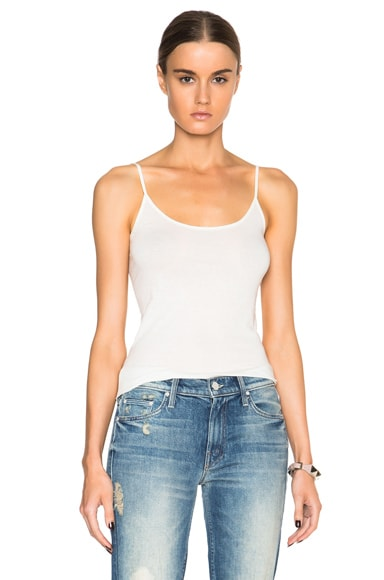Helmut Lang Long Tank Top in Ivory