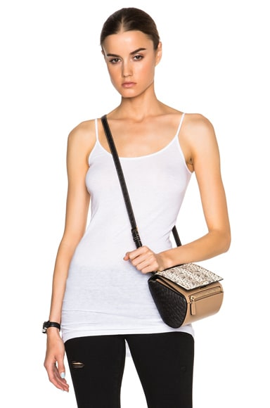 Helmut Lang Long Tank Top in Optic White
