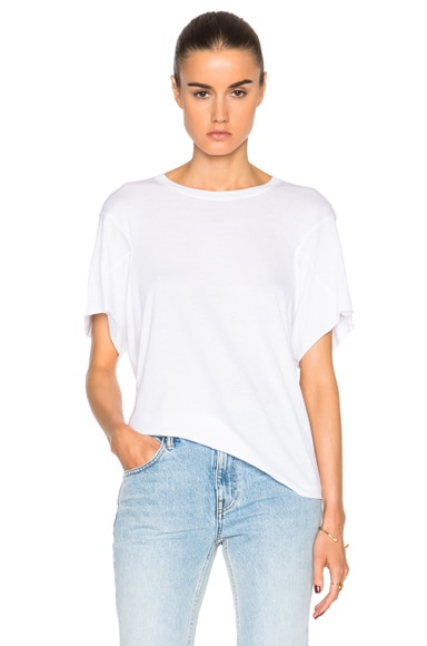 Helmut Lang Boxy Short Top in Optic White