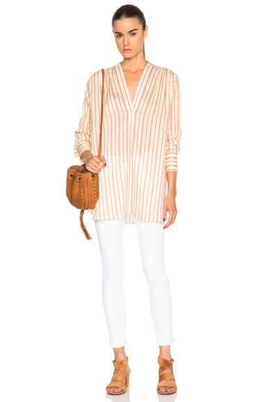 Stripe Poet Top