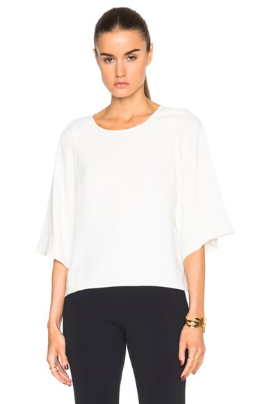 Helmut Lang Scooped Top in Ivory