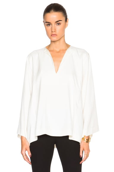 Helmut Lang Square Top in Ivory