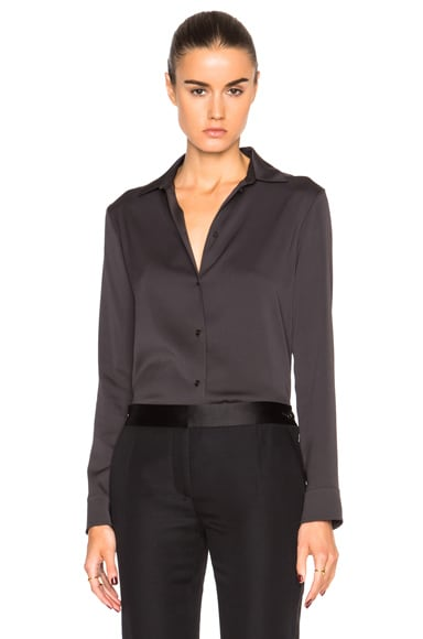 Helmut Lang Collared Top in Basil