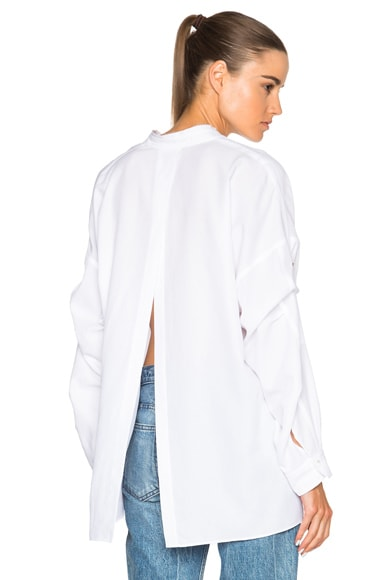 Helmut Lang Open Back Cotton Top in White
