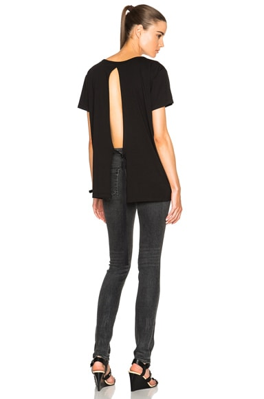Helmut Lang Open Back Tee in Black