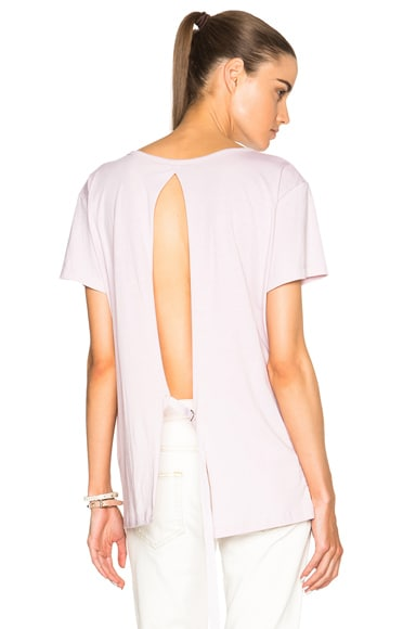 Helmut Lang Open Back Tee in Mauve