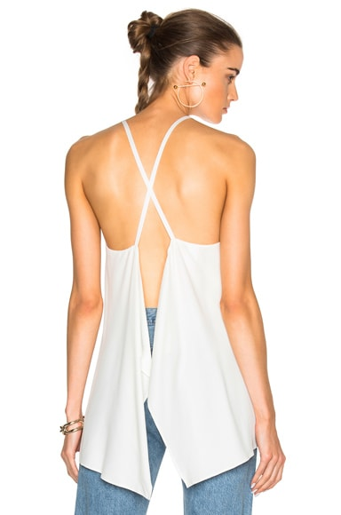 Helmut Lang Scarf Tank Top in White