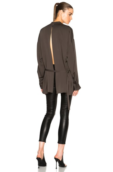 Helmut Lang Back Knot Top in Willow