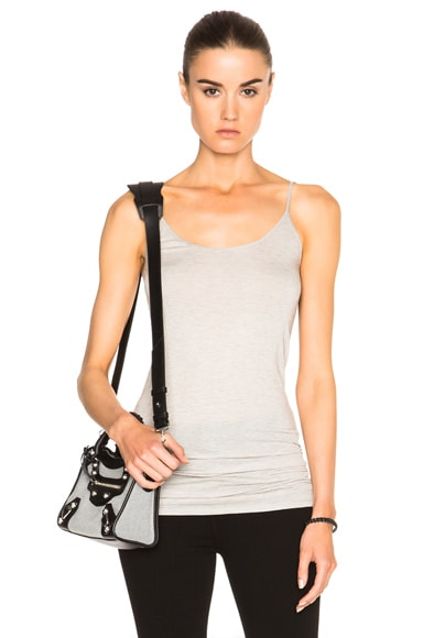 Helmut Lang Long Tank Top in Light Heather