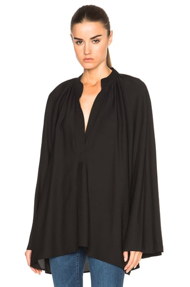 Helmut Lang Sheer Blouse in Black