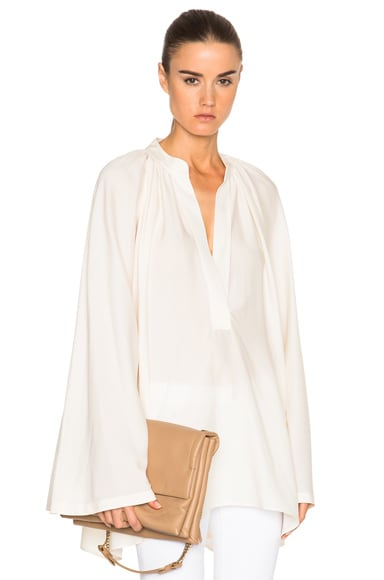 Helmut Lang Sheer Blouse in Ivory