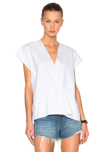 Helmut Lang Snap Detail Top in White