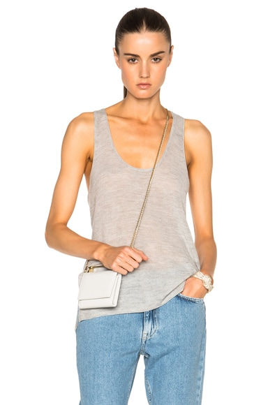 Helmut Lang Racer Back Top in Foggy