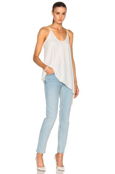 Helmut Lang Side Drape Top in Ivory