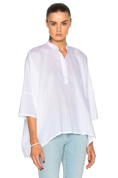 Helmut Lang Short Sleeve Squa Top in White