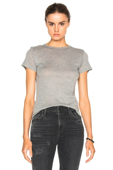 Helmut Lang Shrunken Tee in Medium Heather