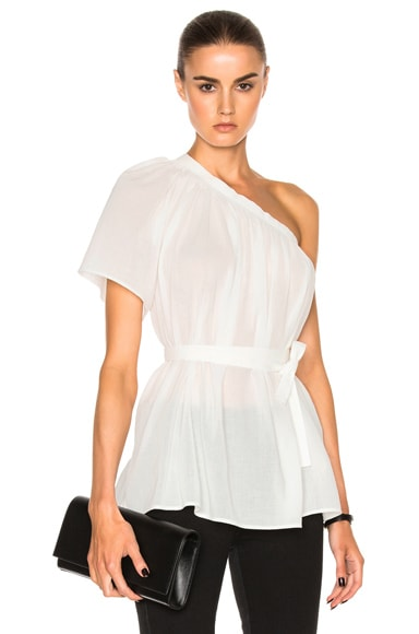Helmut Lang Asymmetric Top in White