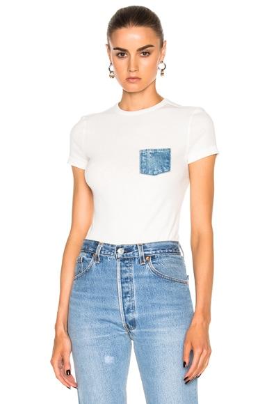 Helmut Lang Pocket T in White