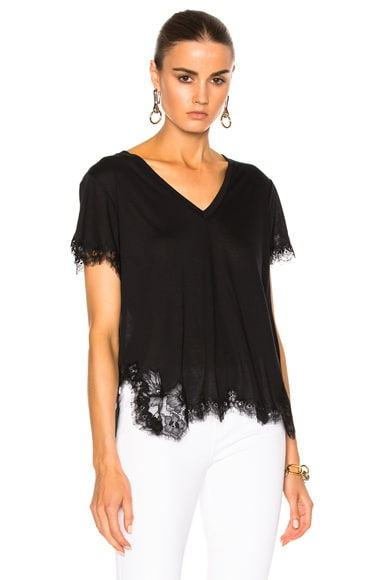 Helmut Lang Lace Tee in Black