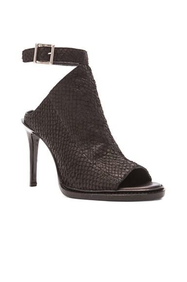 Open Toe Leather Heels