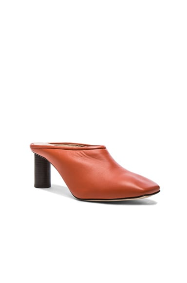 Square Toe Leather Mules