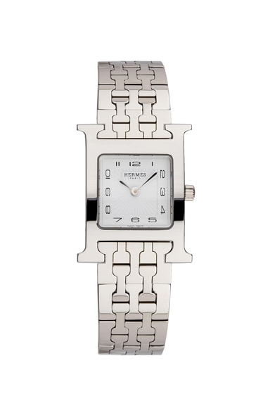 Hermes Heure Hour pm in Silver