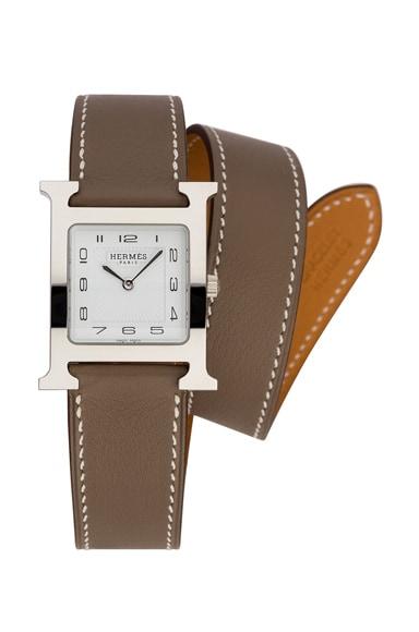 Hermes Heure Hour mm in Etoupe
