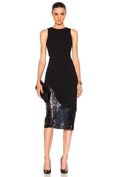 HANEY for FWRD Natasha Dress in Black Sequins
