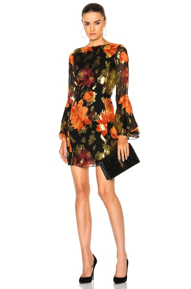 HANEY Alisa Dress in Black Floral