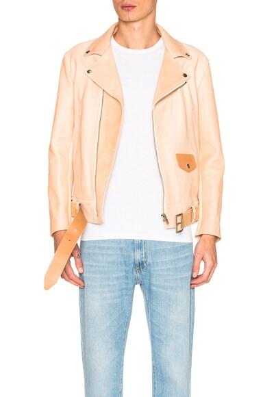 Hender Scheme Leather Jacket in Natural