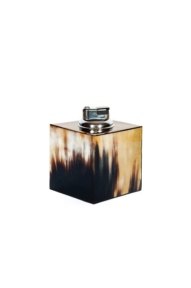Hunting Season Square Table Lighter in Horn