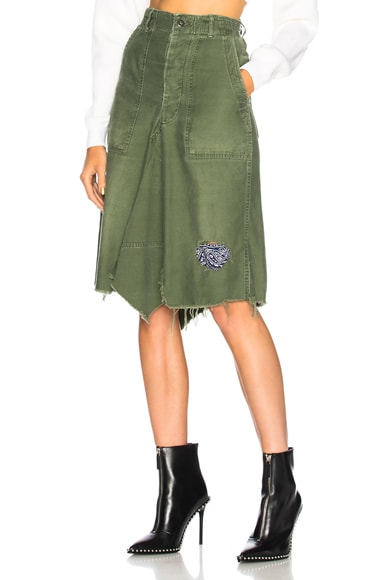 Patched Bandana Skirt in