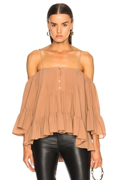 Bare Shoulder Peasant Top