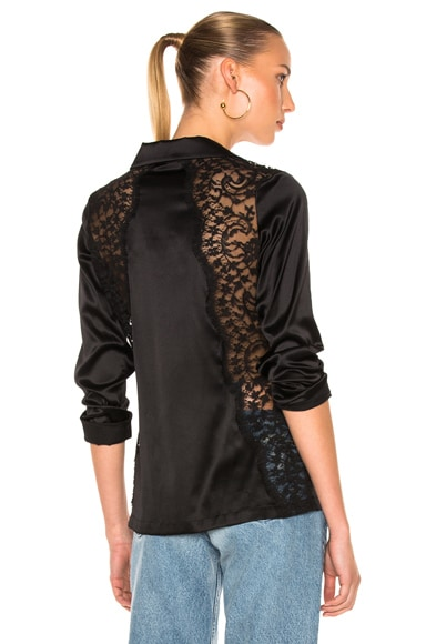 I.D. SARRIERI Pajama Top in Black