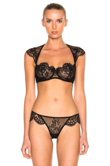 I.D. SARRIERI Lace Balconette Bra in Black