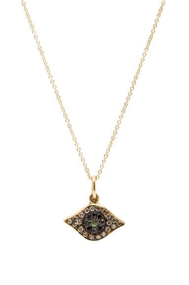 Ileana Makri Kitten Eye Pendant Necklace in Yellow Gold