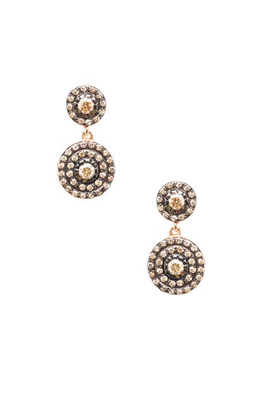 Ileana Makri Double Solitaire Earring in Rose Gold
